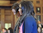 PHOTO:Alexis Wright appears with her attorney, Sarah Churchill, Friday, March 29, 2013 in Cumberland County Court, in Portland, Maine.