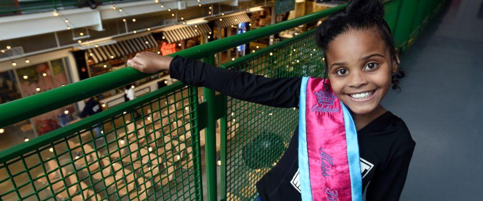 "PHOTO: Amariyanna ""Mari"" Copeny, 8, poses for a photo while wearing a sash that states ""Miss Flint,"" April 28, 2016."