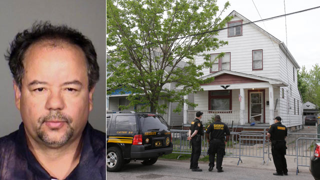 PHOTO: This undated photo released by the Cleveland Police Department shows Ariel Castro, a 52-year-old former school bus driver suspected of keeping three women captive inside his decrepit house for a decade; he was charged on May 8, 2013 with four count