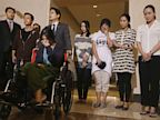 PHOTO: Flight crew members from Asiana Flight 214, which crashed on Saturday, July 6, 2013, appear at a news conference at San Francisco International Airport in San Francisco on July 10, 2013.
