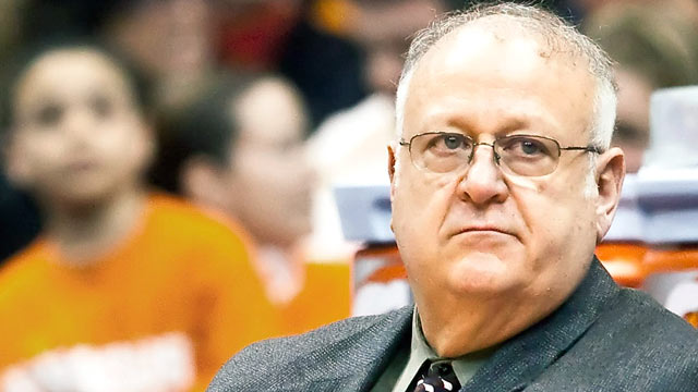 PHOTO: Syracuse assistant basketball coach Bernie Fine, shown in this March 2, 2010 file photo, was placed on administrative leave after child molesting allegations arose.