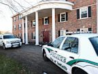 PHOTO: In this Nov. 2, 2012 photo, DeKalb police vehicles sit outside the Pi Kappa Alpha house in DeKalb, Ill. where police were investigating the death of NIU freshman David Bogenberger.