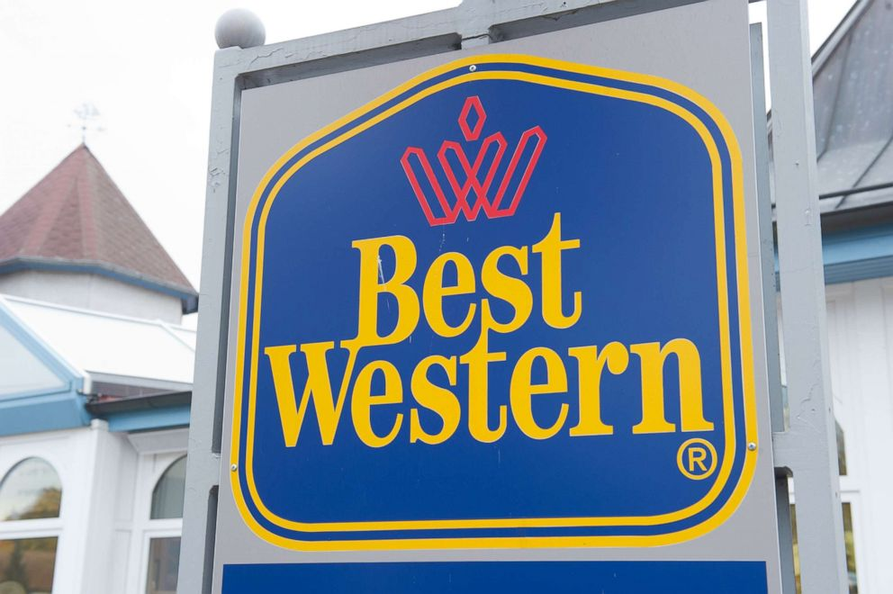 PHOTO: A sign with the writing Best Western is pictured in front of a hotel in Kowserow, Germany, 17 October 2013.