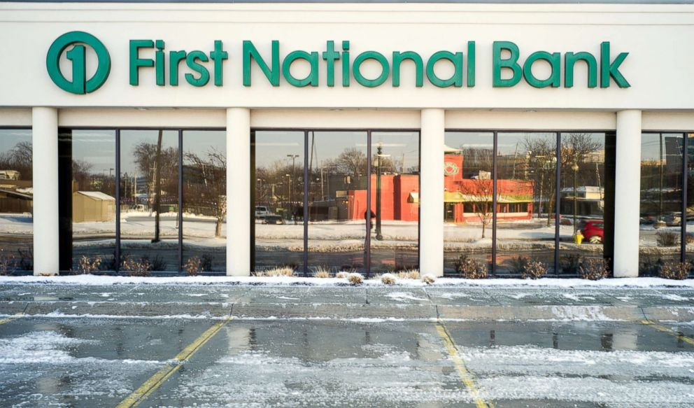 PHOTO: A First National Bank branch is seen in Omaha, Neb., Friday, Feb. 23, 2018.