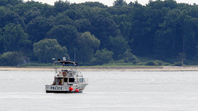 PHOTO: Police boat in Long Island Sound