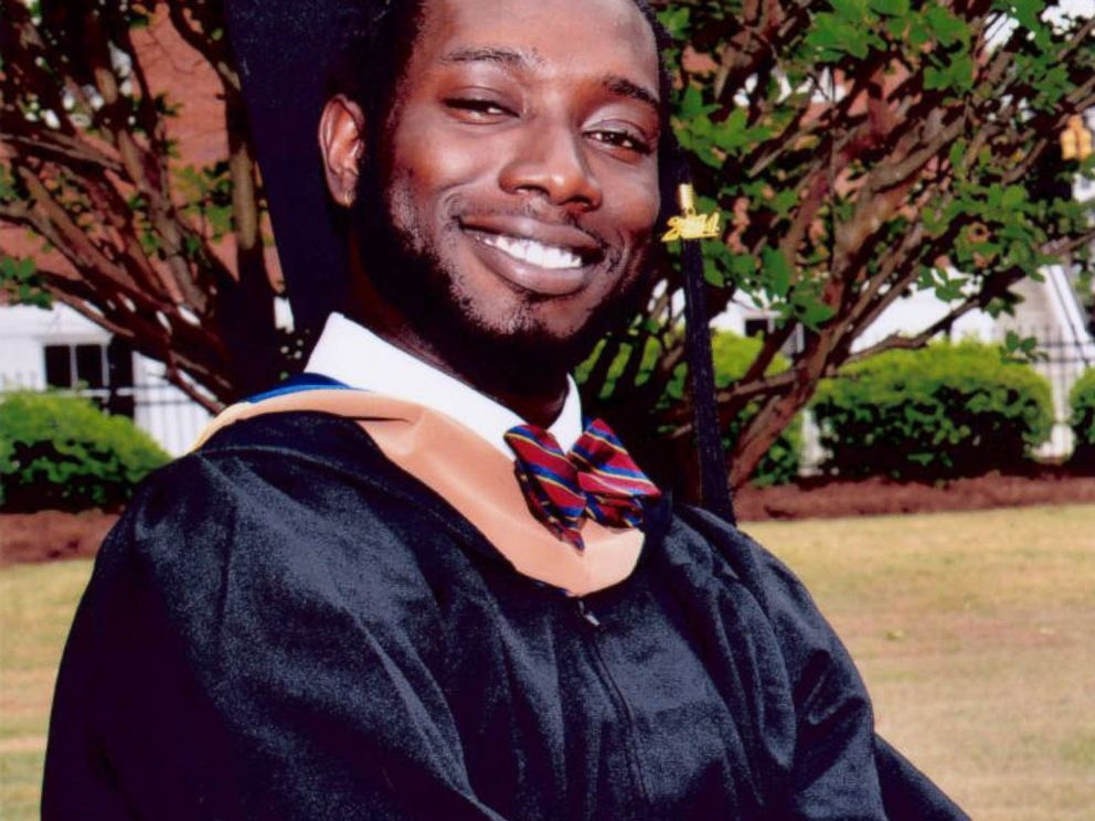 PHOTO: In this undated photo made available by Anita Brewer Dantzler shows Tywanza Sanders on the day of his graduation from Allen University in Columbia, South Carolina.