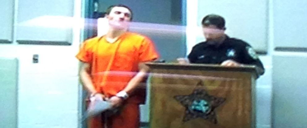 PHOTO: In this frame grab from video provided by the Bay County Courthouse, Dalton Hayes appears in court via a video link-up between the Bay County Jail and the Bay County Courthouse, Jan. 19, 2015, in Panama City, Fla.