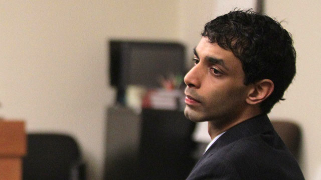 PHOTO: Dharun Ravi listens to testimony during his trial at the Middlesex County Courthouse in New Brunswick, March 12, 2012.