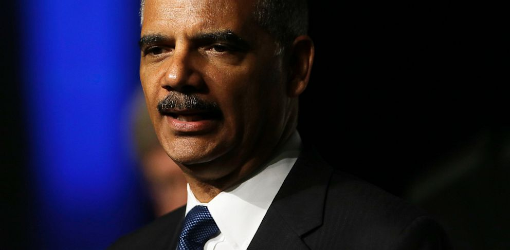 PHOTO: In this Aug. 12, 2013, file photo Attorney General Eric Holder speaks to the American Bar Association Annual Meeting in San Francisco.