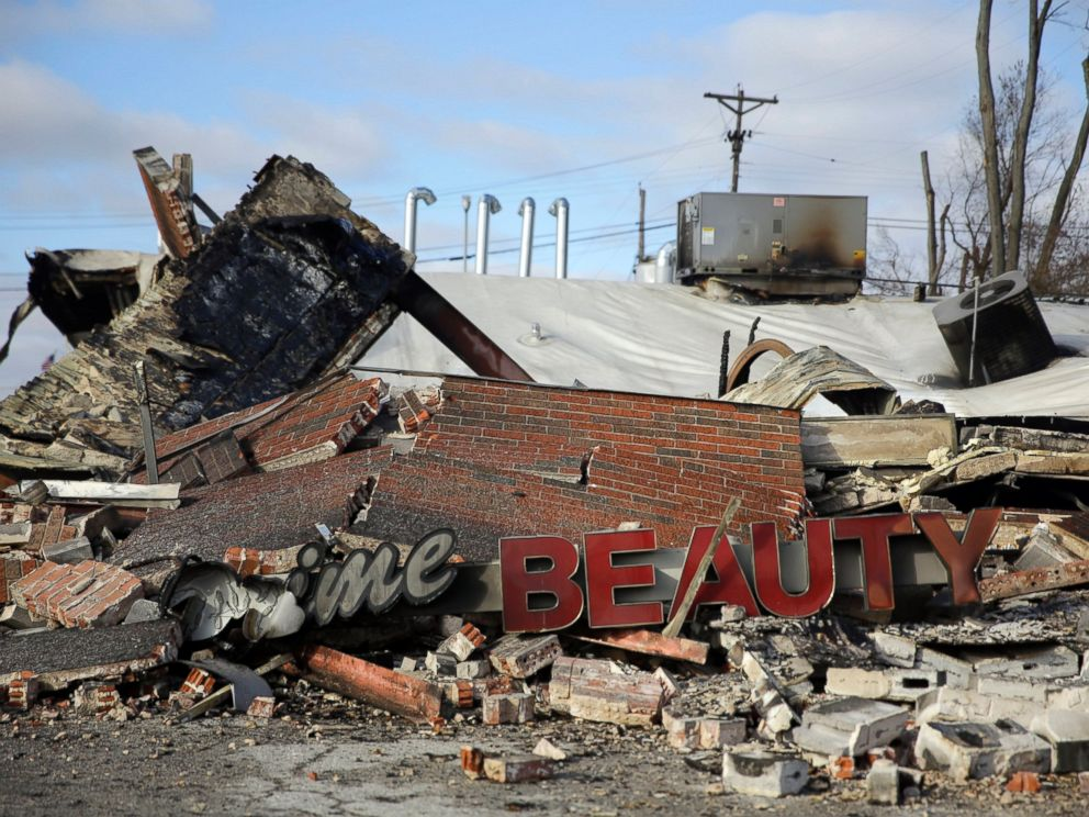 PHOTO: One of the buildings burned to the ground during protests after a grand jurt decided not to indict a police officer in the killing of an unarmed teenager, Nov. 25, 2014, Dellwood, Mo.
