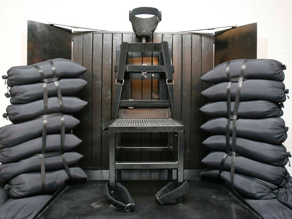 PHOTO: File photo of the execution chamber at the Utah State Prison after Ronnie Lee Gardner was executed by firing squad June 18, 2010.