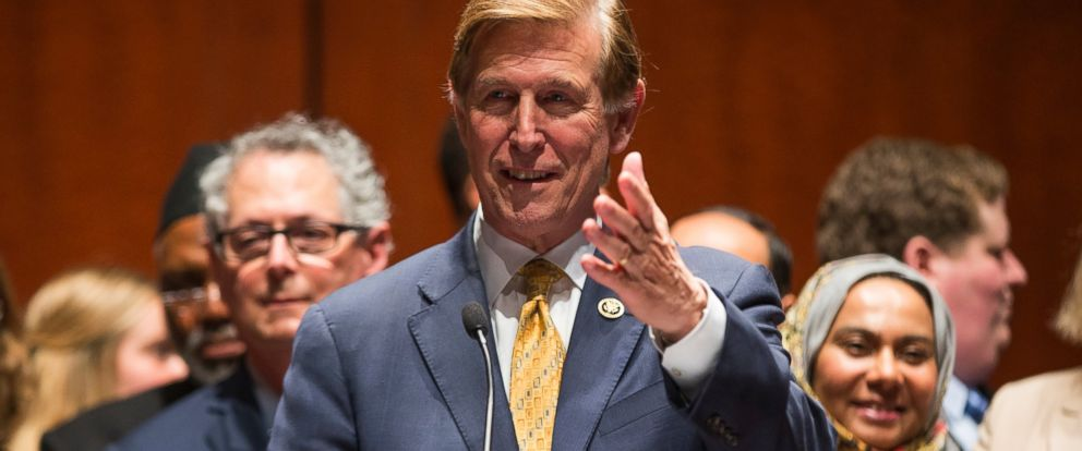 PHOTO: Rep. Don Beyer speaks during a news conference on Capitol Hill in Washington, May 11, 2016, on the introduction of the Freedom of Religion Act.