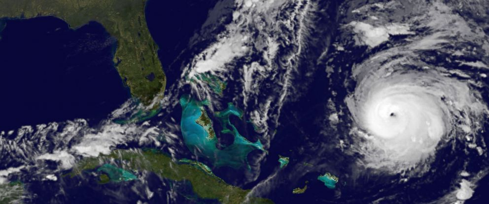 PHOTO: This image provided by NOAA on Oct. 16, 2014 shows Hurricane Gonzalo, lower right.