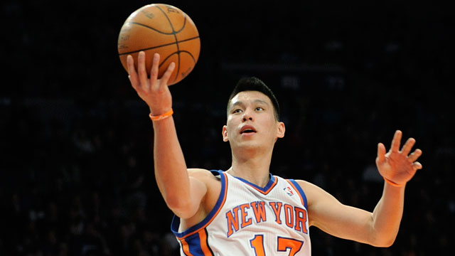 PHOTO: New York Knicks Jeremy Lin drives to the basket during the second quarter of an NBA basketball game New Jersey Nets on Feb. 4, 2012, at Madison Square Garden in New York.
