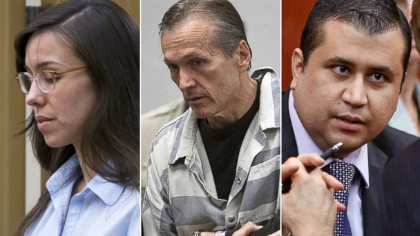 PHOTO: Jodi Arias, Martin MacNeill and George Zimmerman, left to right, are shown in these file photos.