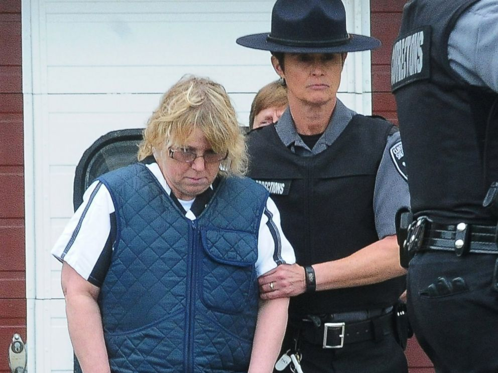 PHOTO: Joyce Mitchell leaves Plattsburgh City Court after her hearing, June 15, 2015, in Plattsburgh, N.Y.