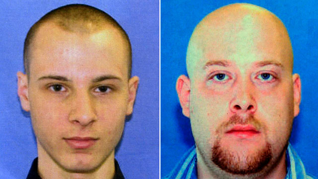 PHOTO: Garda Cash Logistics armored car guards Kenneth Konias Jr., left, shot his partner, Michael Haines, to death, and vanished with more than $2 million in cash.