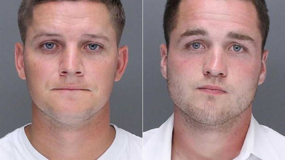 Kevin Harrigan and Philip Williams appear in these undated photos provided by the Philadelphia Police Department. They are charged along with Kathryn Knott in the beating of a gay couple during a late-night encounter on a city street.