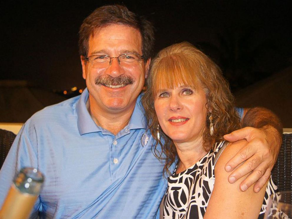 PHOTO: Bill Sherlach and his wife, school psychologist Mary Sherlach, pose for a photo; Mary was killed on Dec. 14, 2012, when a gunman opened fire at Sandy Hook Elementary School, in Newtown, Conn., killing 26 children and adults at the school.