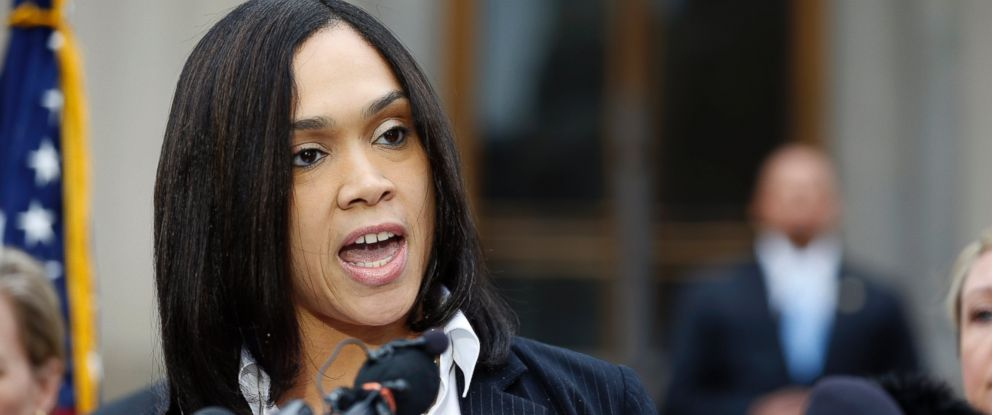 PHOTO: Marilyn Mosby, Baltimore states attorney, speaks during a media availability, May 1, 2015 in Baltimore.