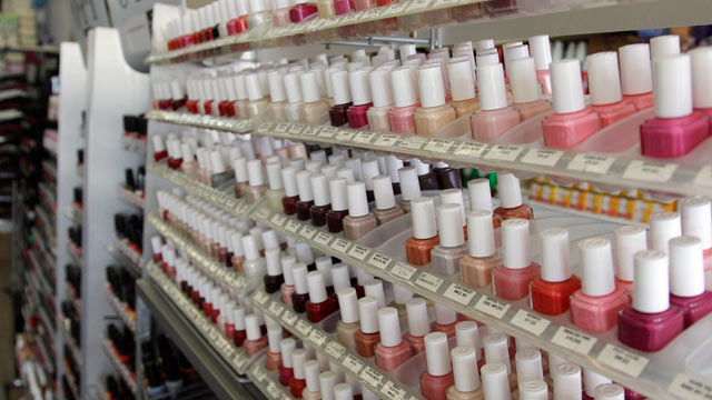 Photo Nail Care Products Are Displayed At A Beauty Supply In San Francisco