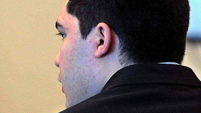 PHOTO: Nathaniel Fujita of Wayland, Mass., sits during the first day of his murder trial, Feb. 13, 2013, in Middlesex Superior Court in Woburn, Mass.