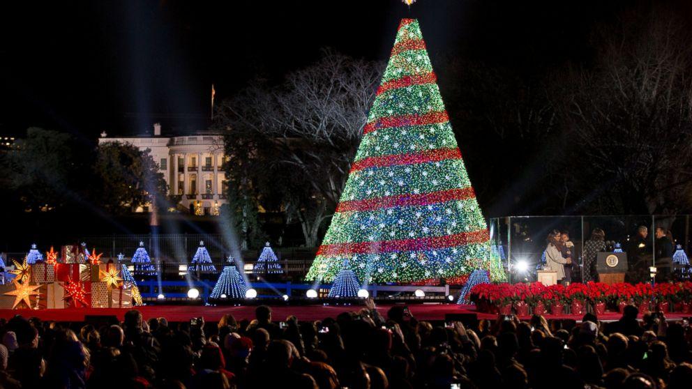 - Obamas Sing, Dance At National Christmas Tree Lighting - ABC News