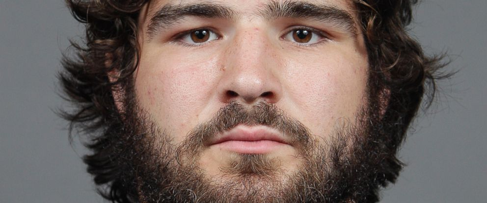 PHOTO: In this file image taken on Sept. 11, 2013, and provided by Ohio State University, college football player Kosta Karageorge poses for a photo in Columbus, Ohio.