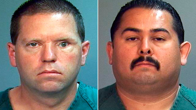 PHOTO: Fullerton, Calif., police officers Jay Cicinelli, left, and Manuel Ramos are charged in the death of 37-year-old Kelly Thomas.