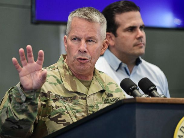 US Army's top engineer 'not satisfied' with Puerto Rico's post-Maria recovery