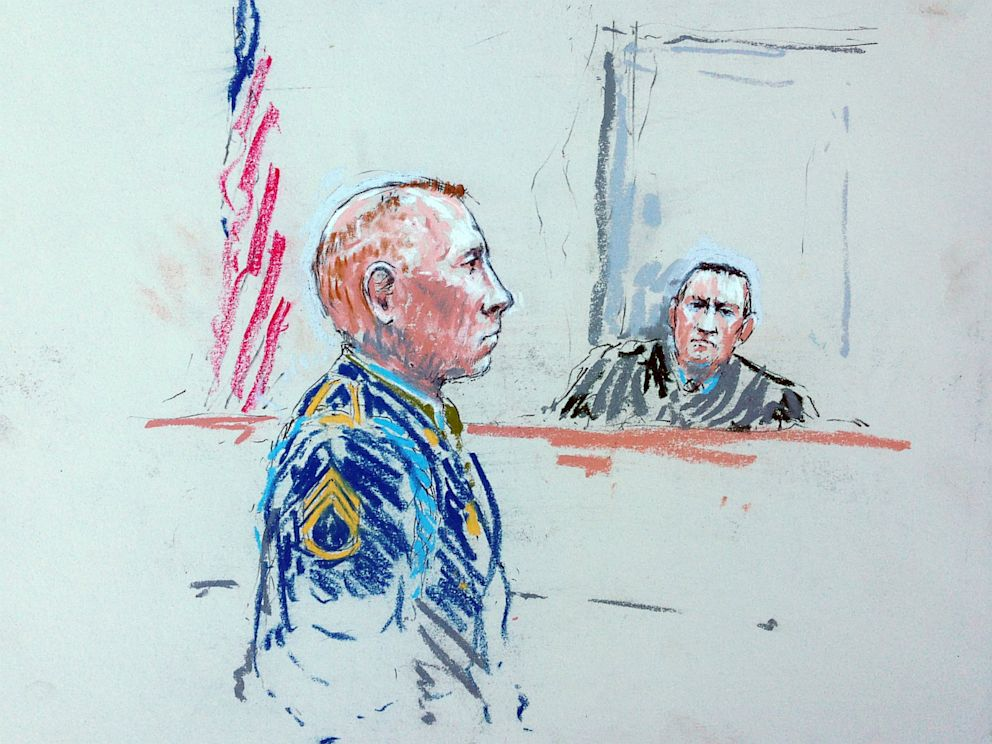 PHOTO: Courtroom sketch of Army Sgt. Robert Bales
