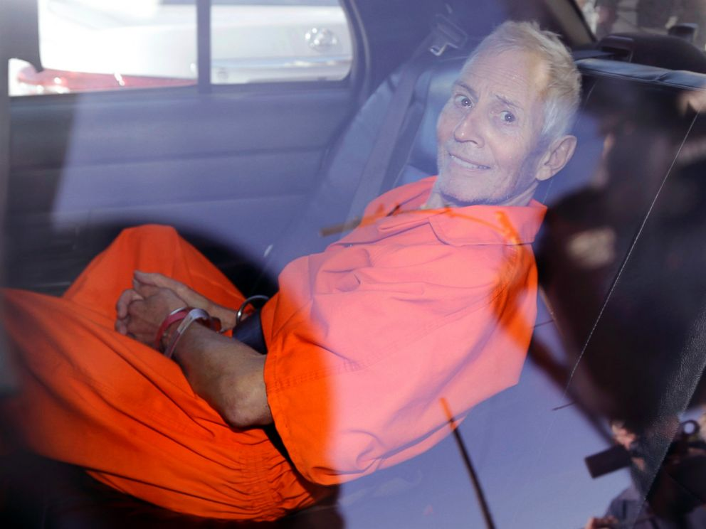 PHOTO: Robert Durst is transported from Orleans Parish Criminal District Court to the Orleans Parish Prison after his arraignment in New Orleans, March 17, 2015.