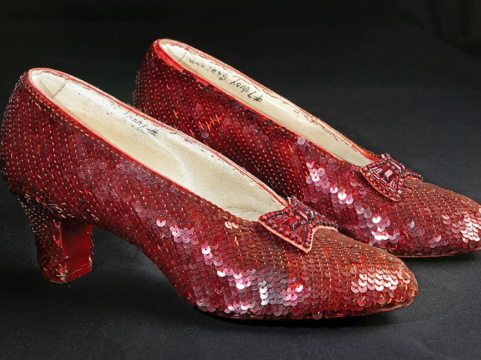 Stolen ruby slippers from