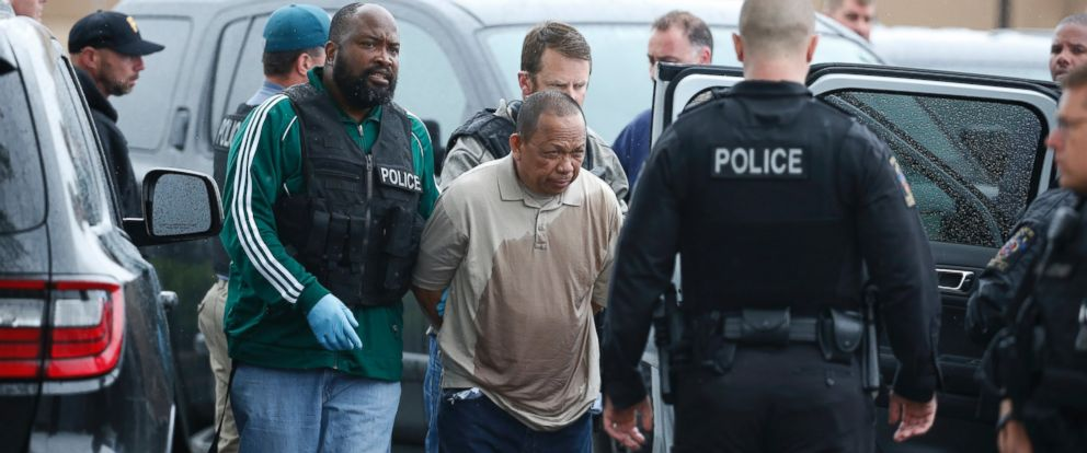 PHOTO: Police take Eulalio Tordil, 62, into custody in Bethesda, Md., May 6, 2016.