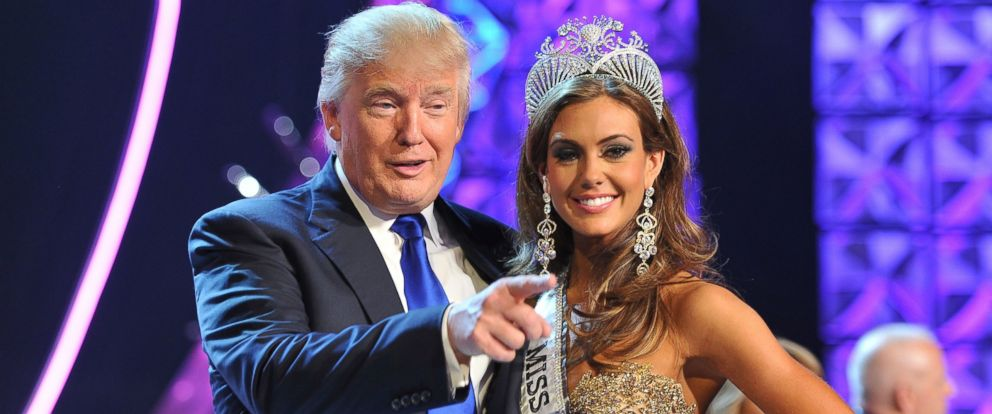 PHOTO: In this June 16, 2013 file photo, Donald Trump and Miss Connecticut USA Erin Brady pose onstage after Brady won the 2013 Miss USA pageant in Las Vegas, Nev.