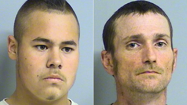 PHOTO: Jacob England and Alvin Watts (R) are shown in these photos provided by the Tulsa Police Department via the Tulsa World.