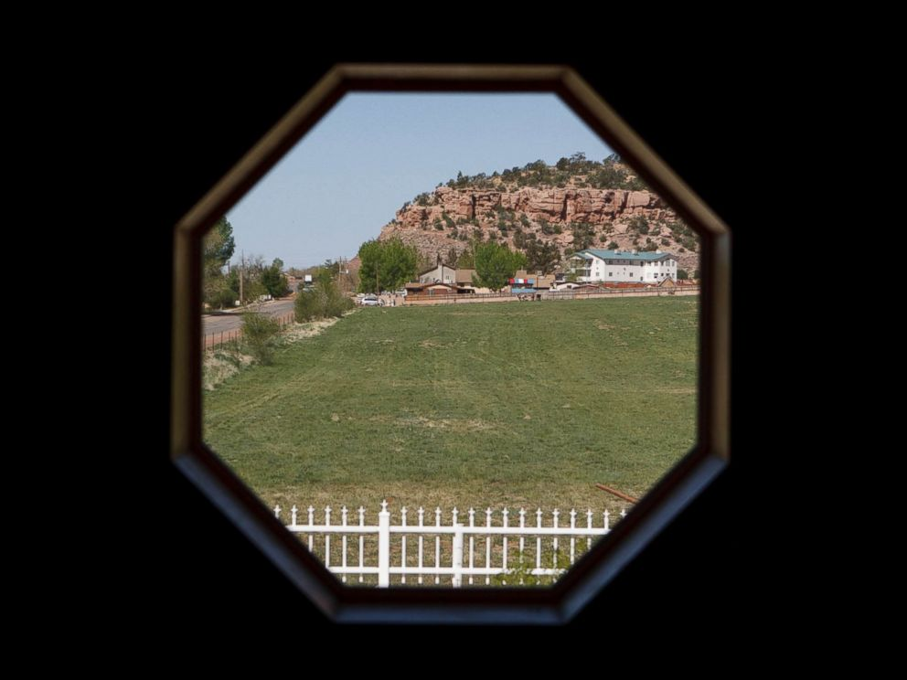 PHOTO: In this April 26, 2013 photo, the view is seen outside a window of a home intended for the family of Warren Jeffs in Hildale, Utah.