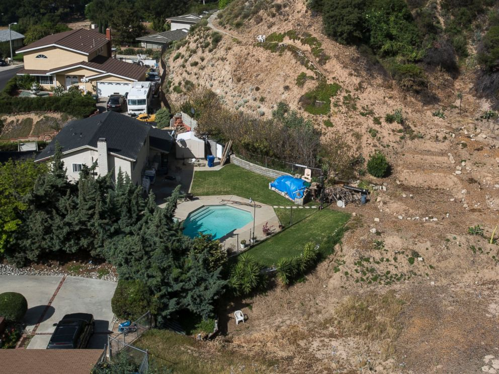 PHOTO: A home with a swimming pool sits near hillside, April 2, 2015, in Altadena, Calif.