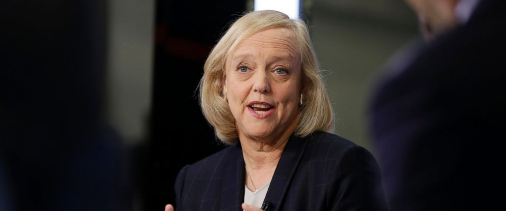 PHOTO: Hewlett Packard Enterprise President and Chief Executive Officer Meg Whitman is interviewed on the floor of the New York Stock Exchange, Monday, Nov. 2, 2015.