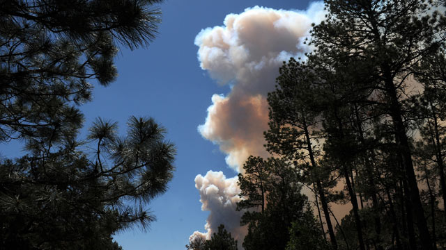 PHOTO: Smoke billows from the Little Bear fire in southeastern New Mexico near Ruidoso, Saturday, June 9, 2012.