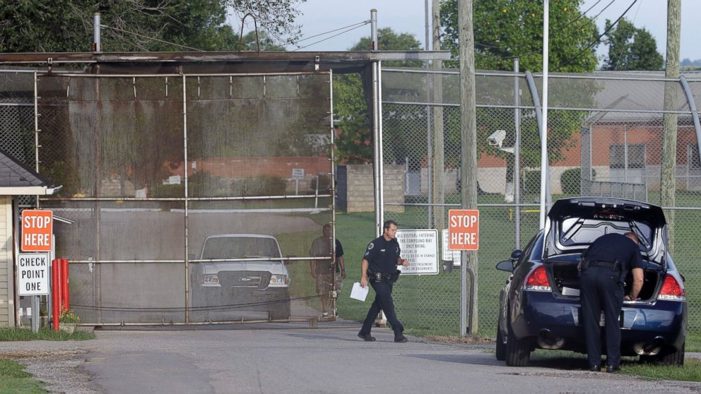 Police work in front of the Woodland Hills Youth Development Center on Sept. 2, 2014, in Nashville, Tenn.