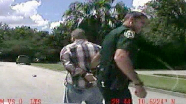 PHOTO: In this still image made from dash-cam video provided by the Lake Mary, Fla. Police,