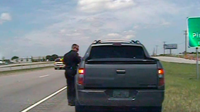 PHOTO: In this image taken from dashcam video provided by the City of Forney Police Department