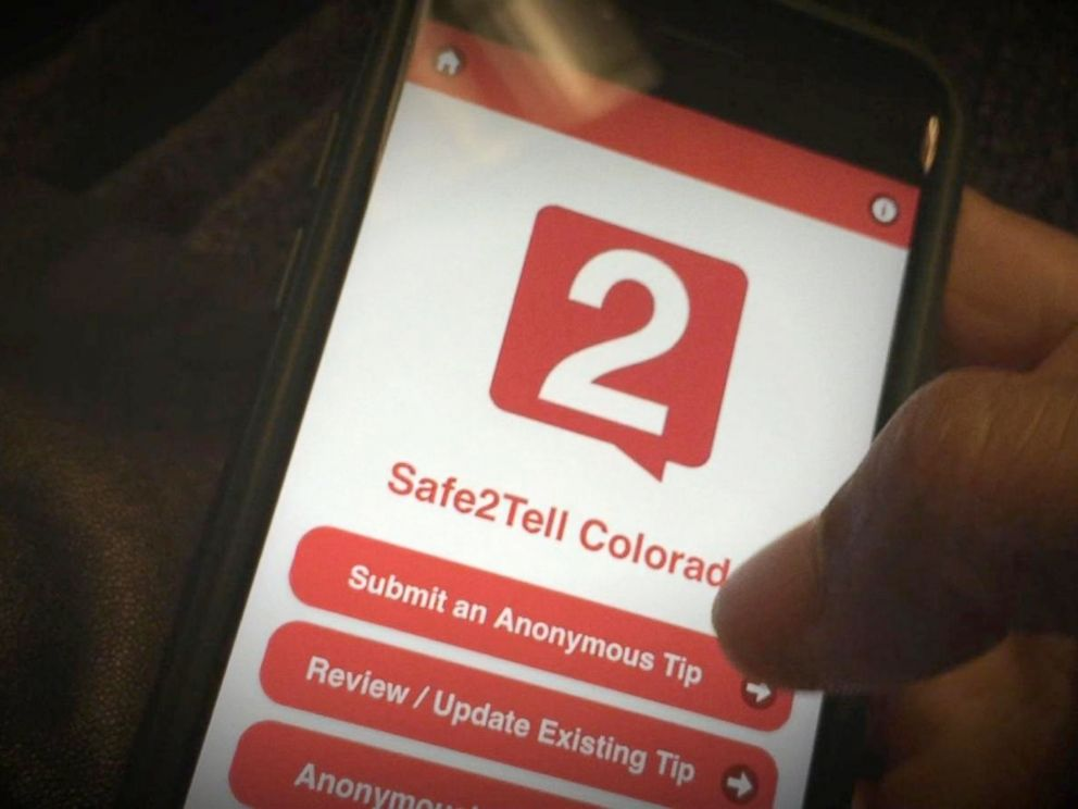 PHOTO: The anonymous reporting app Safe 2 Tell is currently used in Colorado schools.