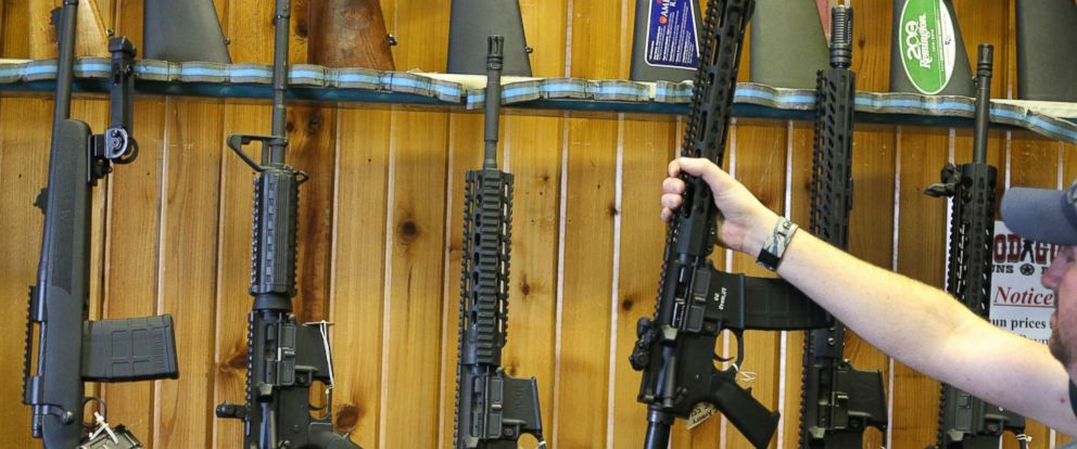 PHOTO:Semi-automatic AR-15s are for sale in this undated file photo.