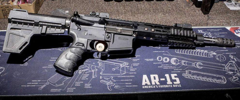 PHOTO: An AR-15 style rifle in Greeley, Penn., April 26, 2018.