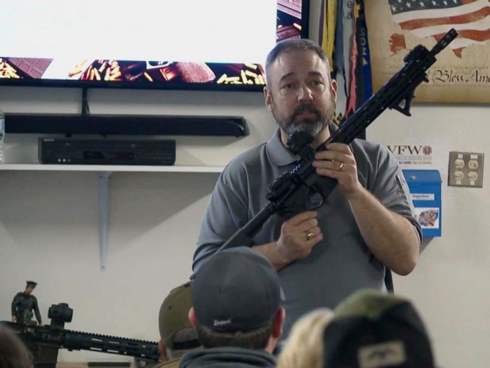 PHOTO: The Build Your Own AR-15 class is run by Chris Walden, who owns a gun business in nearby Battle Creek, Mich.
