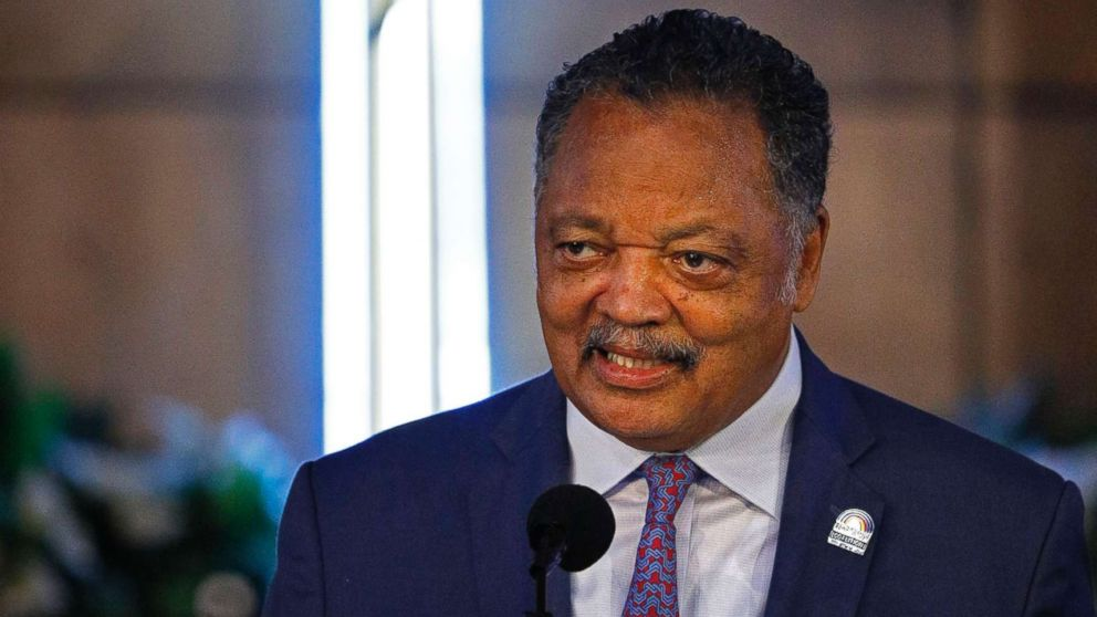 Rev. Jesse Jackson speaks at New Bethel Baptist Church, the church where Aretha Franklin's late father Rev. C.L. Franklin was a minister and where she began her singing career, on Aug. 19, 2018 in Detroit. Aretha Franklin died in Detroit of pancreatic cancer on August 16th at the age of 76.