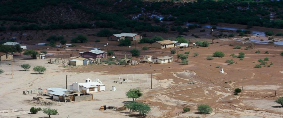 PHOTO: Kohakt Village near Pinal County, Ariz., is saturated by floodwater, Oct. 3, 2018.