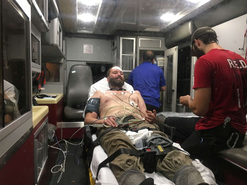 PHOTO: Josh McClatchy, 37, was rescued after six days in the Arkansas woods on Friday, June 7, 2019, after he got lost on a hike in Polk County.
